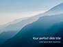 Panoramic Mountains in Blue Mist Presentation slide 1