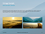 Panoramic Mountains in Blue Mist Presentation slide 12