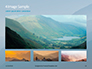 Panoramic Mountains in Blue Mist Presentation slide 13