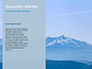 Panoramic Mountains in Blue Mist Presentation slide 9