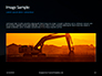 Three Excavators Work on Construction Site at Sunset Presentation slide 10