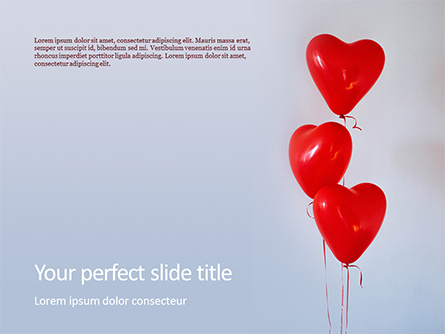 Heart Shaped Balloons Presentation Presentation Template, Master Slide
