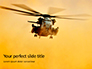 Helicopter in Yellow Sky Presentation slide 1