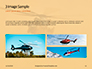 Helicopter in Yellow Sky Presentation slide 12