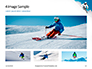 Skier Skiing Downhill During Sunny Day in High Mountains Presentation slide 13