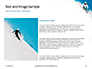 Skier Skiing Downhill During Sunny Day in High Mountains Presentation slide 15