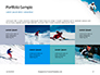 Skier Skiing Downhill During Sunny Day in High Mountains Presentation slide 17
