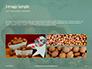 Walnuts Scattered from Burlap Bag on Wooden Table Presentation slide 12
