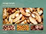 Walnuts Scattered from Burlap Bag on Wooden Table Presentation slide 13