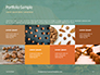 Walnuts Scattered from Burlap Bag on Wooden Table Presentation slide 17