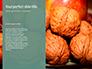 Walnuts Scattered from Burlap Bag on Wooden Table Presentation slide 9