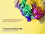 Festive Mask with Decor on Yellow Background Presentation slide 1