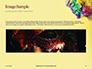 Festive Mask with Decor on Yellow Background Presentation slide 10