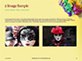 Festive Mask with Decor on Yellow Background Presentation slide 11