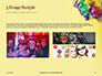 Festive Mask with Decor on Yellow Background Presentation slide 12