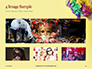 Festive Mask with Decor on Yellow Background Presentation slide 13