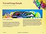 Festive Mask with Decor on Yellow Background Presentation slide 14
