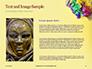 Festive Mask with Decor on Yellow Background Presentation slide 15