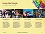 Festive Mask with Decor on Yellow Background Presentation slide 16