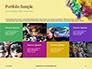 Festive Mask with Decor on Yellow Background Presentation slide 17