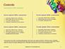 Festive Mask with Decor on Yellow Background Presentation slide 2