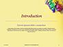 Festive Mask with Decor on Yellow Background Presentation slide 3