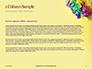 Festive Mask with Decor on Yellow Background Presentation slide 4