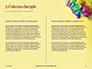 Festive Mask with Decor on Yellow Background Presentation slide 5