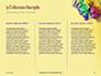 Festive Mask with Decor on Yellow Background Presentation slide 6
