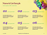 Festive Mask with Decor on Yellow Background Presentation slide 8