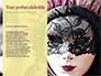 Festive Mask with Decor on Yellow Background Presentation slide 9