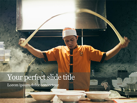 Chef at Work Presentation Presentation Template, Master Slide