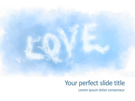 Love Shaped Clouds Presentation Presentation Template, Master Slide