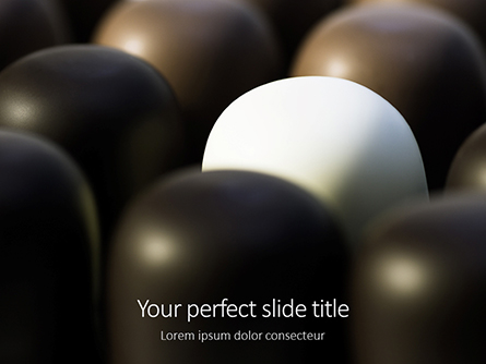Close-up of Chocolate Covered Marshmallows Presentation Presentation Template, Master Slide