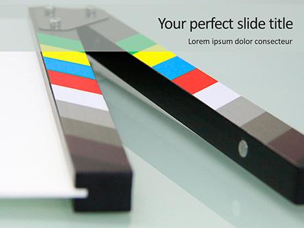 Film Making Clapperboard Closeup Presentation Presentation Template, Master Slide