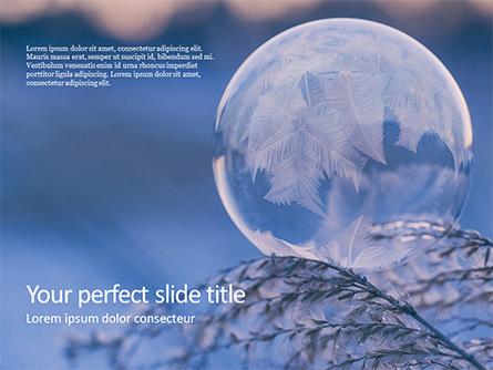 A Frozen Soap Bubble on a Branch Presentation Presentation Template, Master Slide