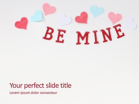 Be Mine Valentines Card Presentation Presentation Template, Master Slide
