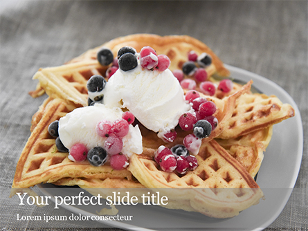 Cooked Waffles and Ice Cream Presentation Presentation Template, Master Slide