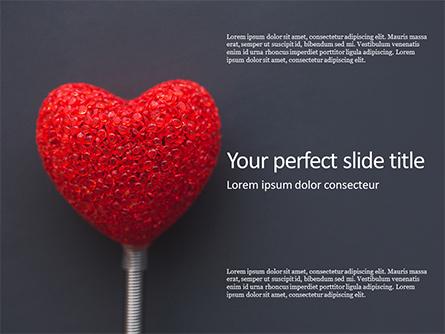 Big Red Heart Presentation Presentation Template, Master Slide