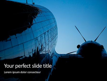 Vintage Airplane Presentation Presentation Template, Master Slide