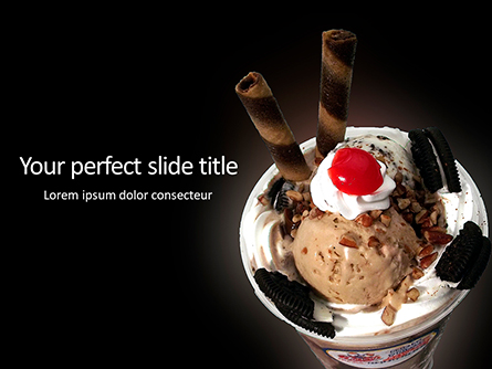 Dessert with ice cream and cookies Presentation Presentation Template, Master Slide