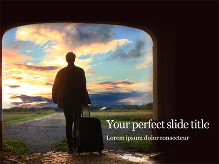 Travel Alone Presentation Presentation Template, Master Slide