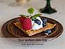 Waffle with Fruit and Ice Cream Presentation slide 1