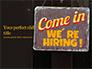 Come in We're Hiring Sign Presentation slide 1