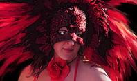 Beautiful Woman in Mardi Gras Mask and Makeup Presentation Presentation Template