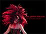 Beautiful Woman in Mardi Gras Mask and Makeup Presentation slide 1