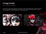 Beautiful Woman in Mardi Gras Mask and Makeup Presentation slide 11