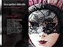Beautiful Woman in Mardi Gras Mask and Makeup Presentation slide 9