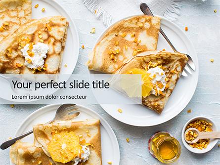 Shrove Pancake Tuesday with Oranges and Honey Presentation Presentation Template, Master Slide