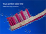 Plastic Toothbrush Under Water with Bubbles Presentation slide 1